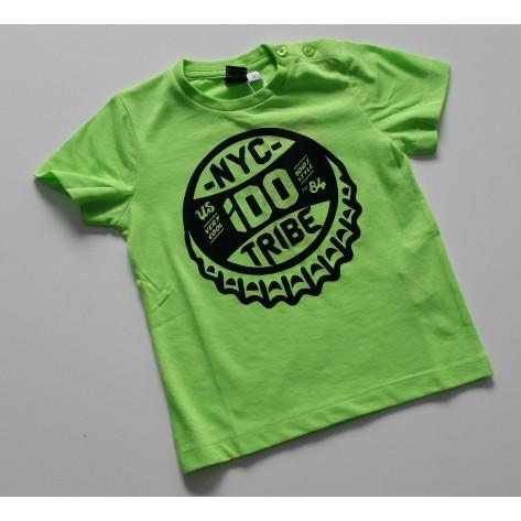 Camiseta manga corta tribe verde fluor
