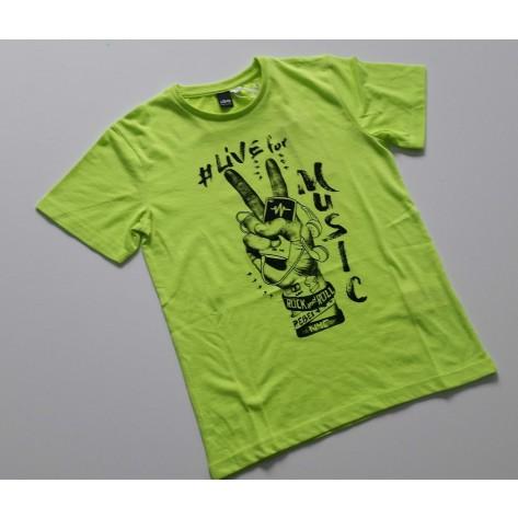 Camiseta manga corta amarillo fluor dedos