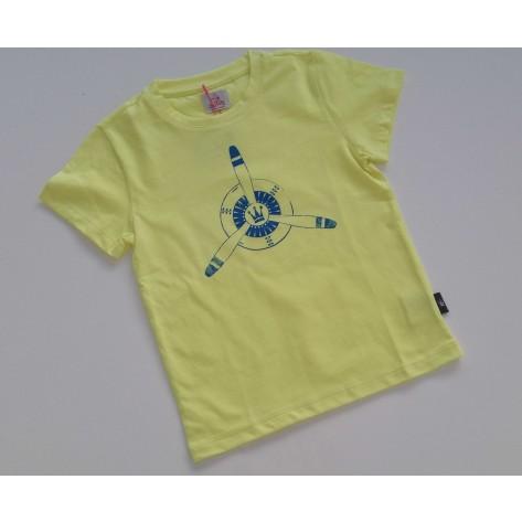 Camiseta amarilla fluor helice