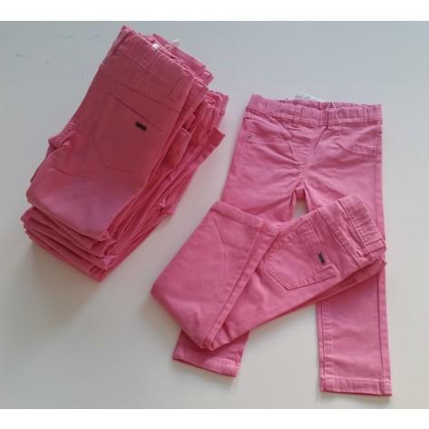 Pantalón largo primavera rosa gomas