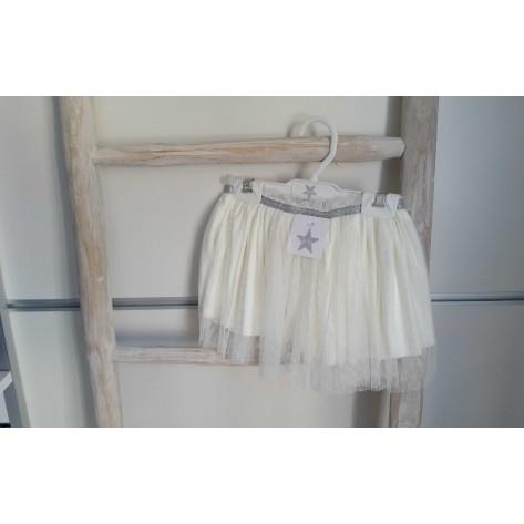 Falda tull blanca