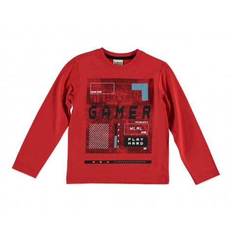Camiseta gamer roja
