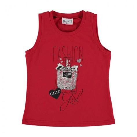 Camiseta fashion chic roja