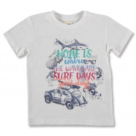 "Camiseta m/c blanca ""Palmbay"""