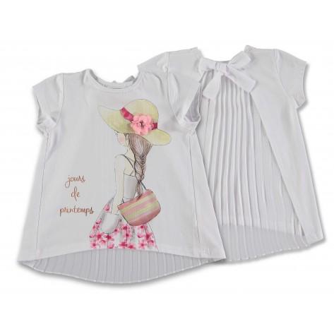 "Camiseta blanca plisada espalda ""ankara"""