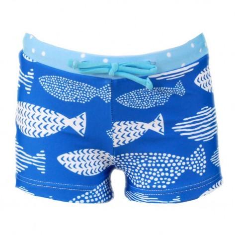 Boxer infantil peces azul