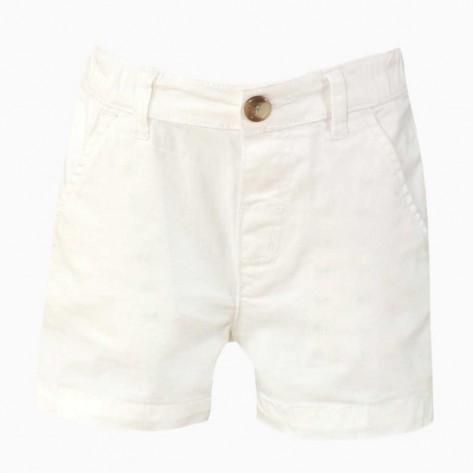 Pantalón corto bebe blanco