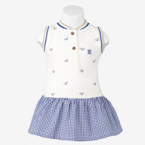 Vestido raquetas azul
