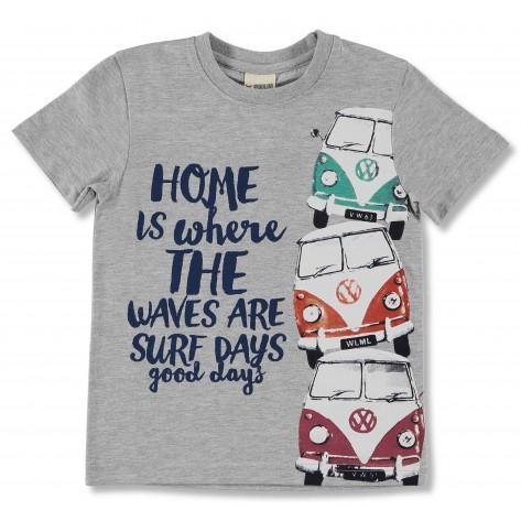 Camiseta manga corta gris furgoentas