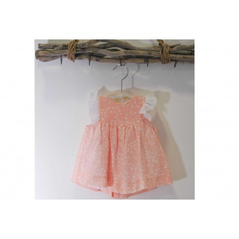 Vestido bambula bebé rosa