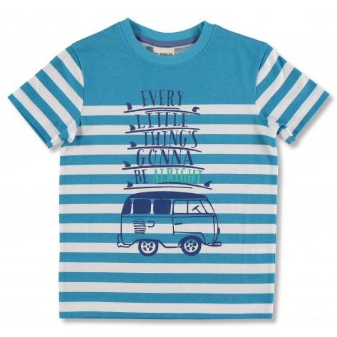 Camiseta azul turquesa furgoneta