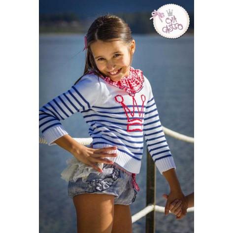 Conjunto niña Bibi blusa + bombacho + jersey