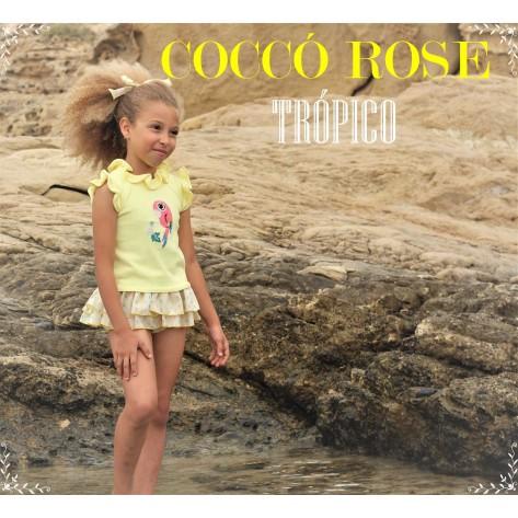 Conjunto braga falda y jersey loro amarillo tropico