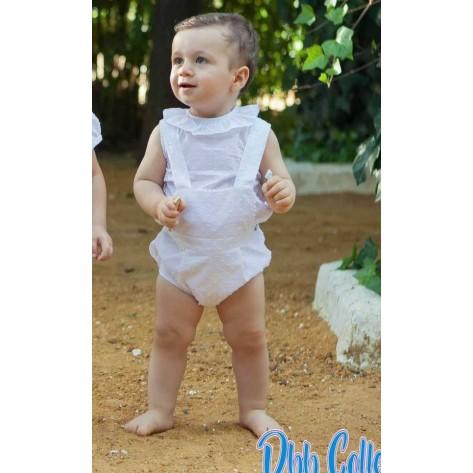 Ranita plumeti blanca y blusa sin mangas