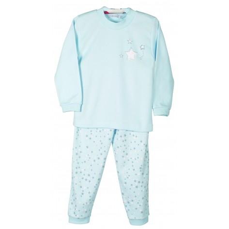 Pijama manga larga estrellas celeste