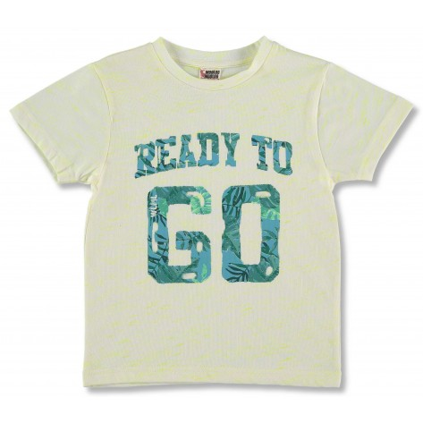 Camiseta manga corta amarilla y verde 60