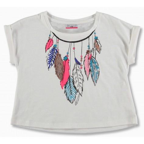 """Camiseta m/c plumas """"delhi"""""""