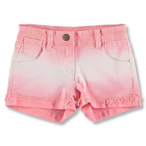 Short vaquero rosa y blanco