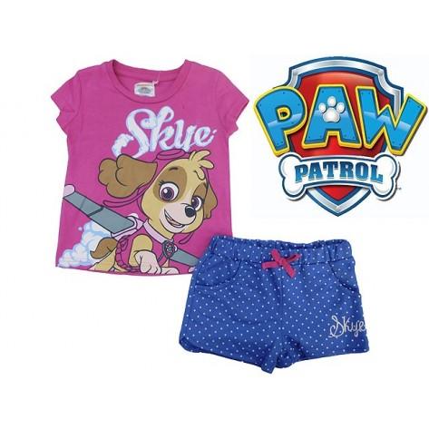Conjunto patrulla canina rosa short y camiseta