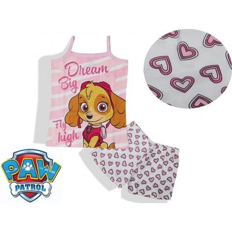Pijama patrulla canina niña tirantes corazones