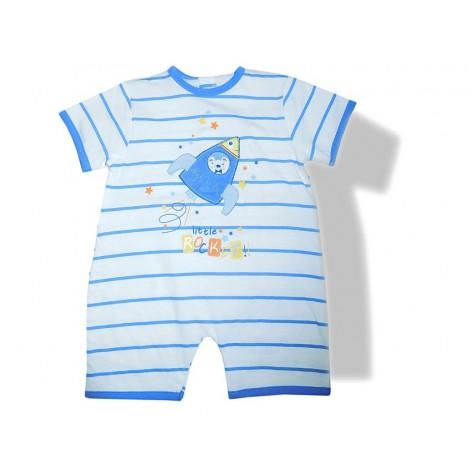 Pijama pelele manga corta rayas azules