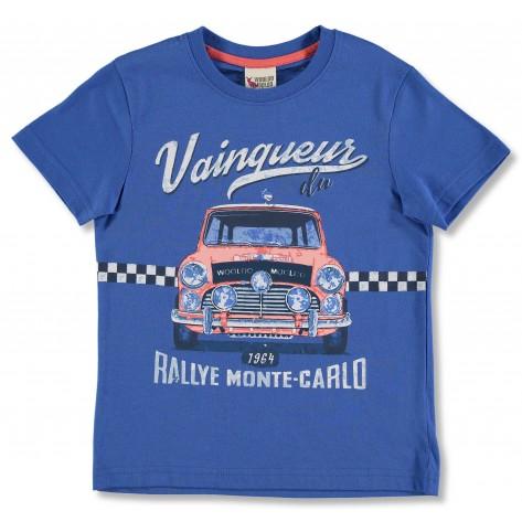 Camiseta manga corta azulón coche