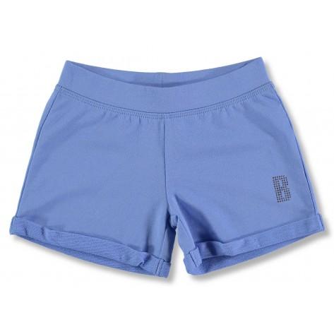 Short niña algodón azul
