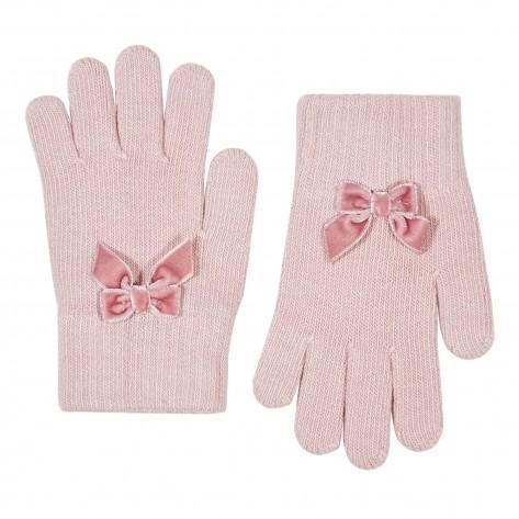 Guante suave con lazo velvet 526 rosa palo