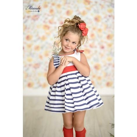 Vestido infantil marinero rayas horizontales