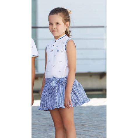 Vestido infantil raquetas azul