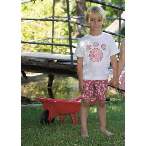 Conjunto bermuda y camiseta colección mascotas