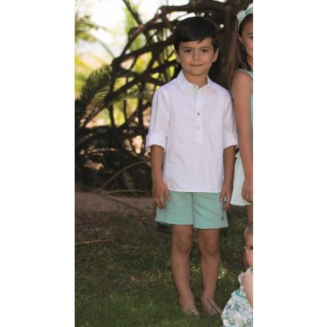 Conjunto bermuda y camisa colección Aguamarina