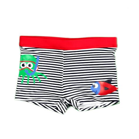 Bañador boxer marino y rojo