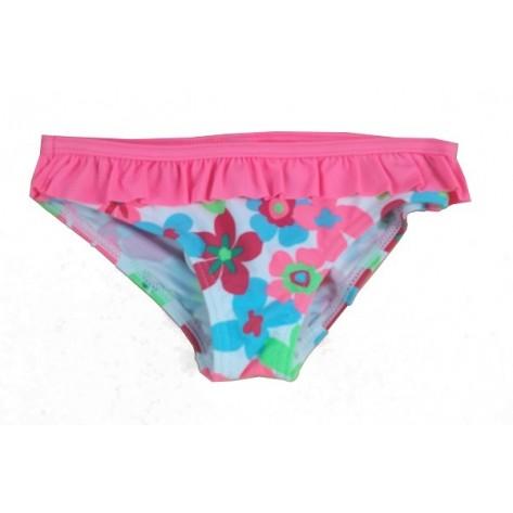 Bañador culotte niña coral con flores
