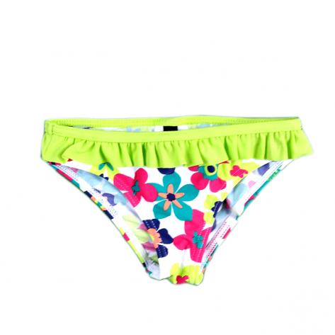 Bañador culotte niña verde con flores