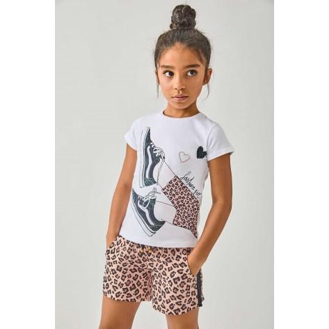 Camiseta animal zapatillas