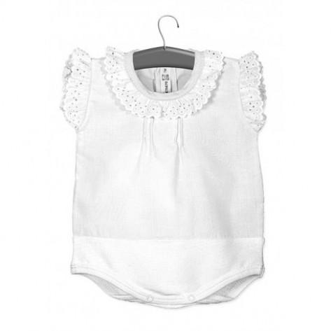 Body camisa s/manga blanco