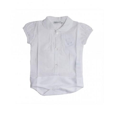 Body camisa niño manga corta blanco