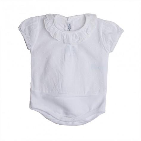 Body camisa m/c plumeti blanco