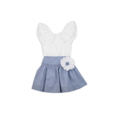Conjunto falda y blusa colección azulina