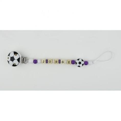 Cadenita de madera personalizada fútbol Real Madrid