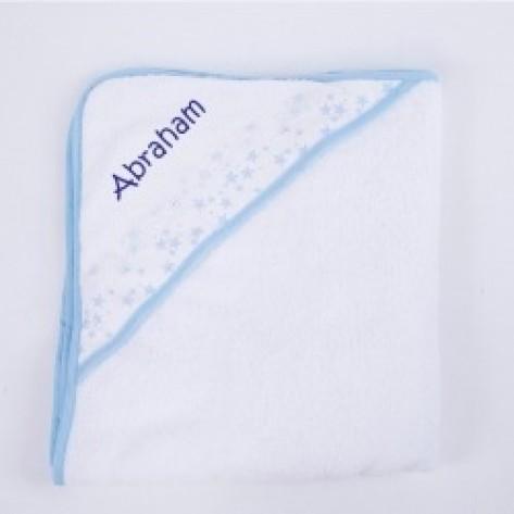 Capa de baño azul personalizada