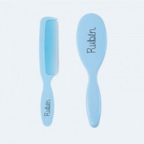 Set cepillo y peine azul personalizados +0M