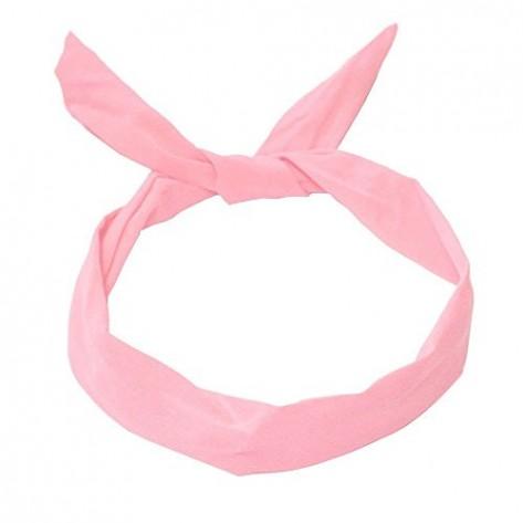 Cinta pelo raso blanca y rosa