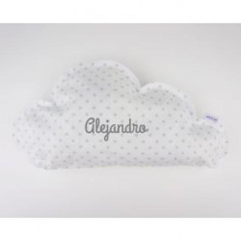 Cojín Nube Gris Handmade Personalizado