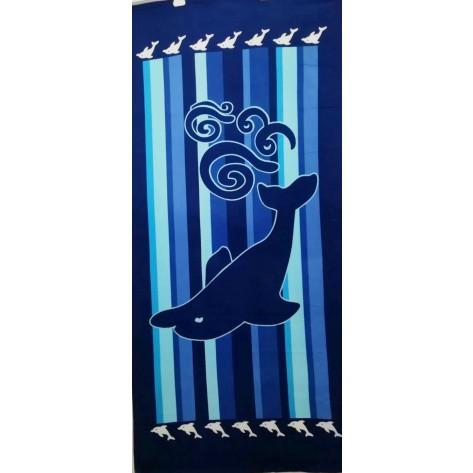Toalla delfin rayas azul