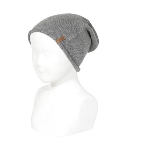 Gorro beanie suave cálido gris