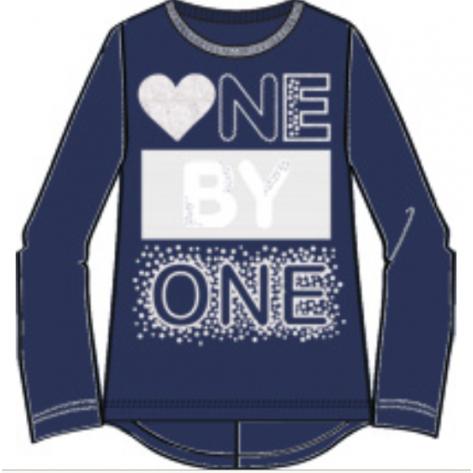Camiseta manga larga ne by one navy