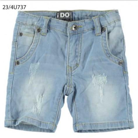 Pantalón corto denim claro
