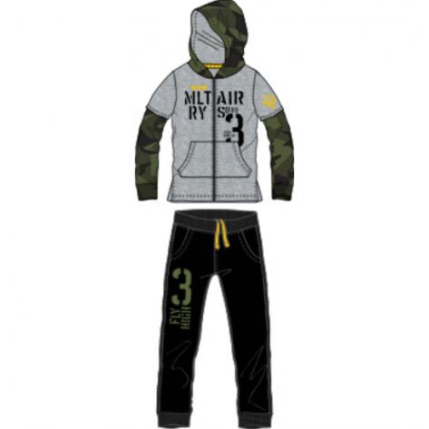 Chándal militar gris y negro